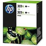 HP D8J45AE - D8J45AE 301XL 2-Pack Black Ink Cart