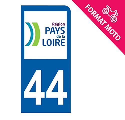 Autocollant Moto immatriculation 44 Loire Atlantique