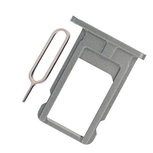 BisLinks® Bandeja de tarjeta Sim tarjetero Nano gris de accesorios Para reparar de repuesto Para iPhone 6