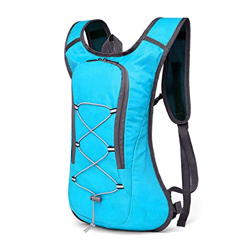 8L Breathable Ultralight Cycling Backpack Pouch Hiking Rucksack Cycling Bag Water Bag Bike Bicycle Cycling Bag 2L Water Bag,Blue Only Bag