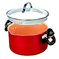 Deals on BulbHead Red Copper Better Pasta Pot