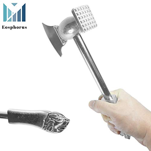 All-Metal Dual-Sided Hatchet Meat Tenderizer Cleaver Bones Breaker