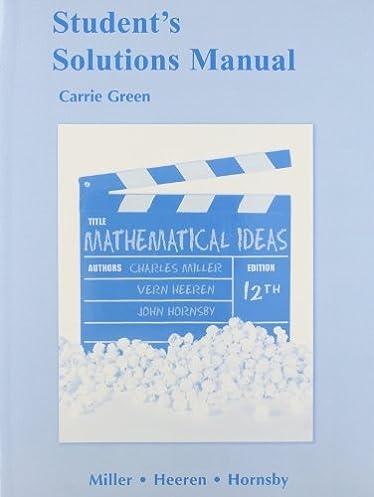 amazon com student solutions manual for mathematical ideas rh amazon com Quality Control Quality Control