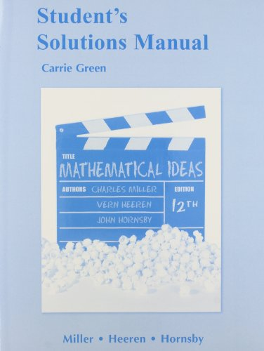 Student Solutions Manual for Mathematical Ideas