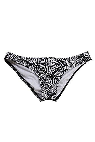 Bar III Women's Cheeky Hipster Bikini Bottom (Large, Black/White)