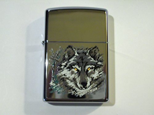 (Zippo Wolf High Polish Chrome 2000 Lighter)