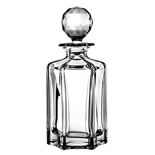 Crystaljulia 2106 Whiskeykaraffe, Kristall, 800 ml, 11 x 11 x 25.5 cm,