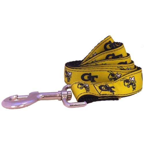 NCAA Georgia Tech Yellow Jackets Dog Leash (Team Color, Large)