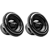 (2) Skar Audio EVL-12 D4 12 2500 Watt Max Power Dual 4 Ohm Car Subwoofer