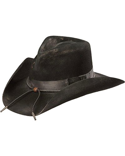 Charlie 1 Horse Unisex Dusty Desperado 3X Wool Hat Black 7 5/8
