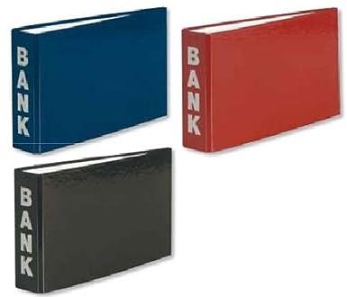 3 Herlitz Bankordner schwarz DIN lang Farbe je 1x blau bourdeaux