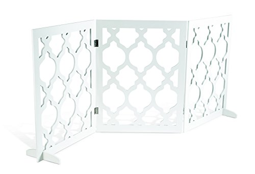 Pet Parade- Decorative Pet Gate- Indoor & Outdoor Use- Opens to 55.5