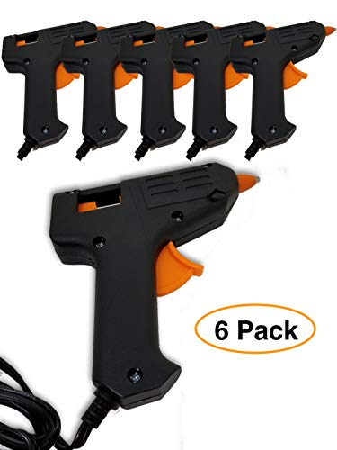 Hot Melt Mini Glue Gun (6 pack) for Arts & Crafts, Schools & Repairs
