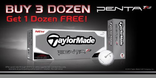 Taylormade Penta TP3 Balls – Buy 3, Get 1 Free (4 Dozen Total), Outdoor Stuffs