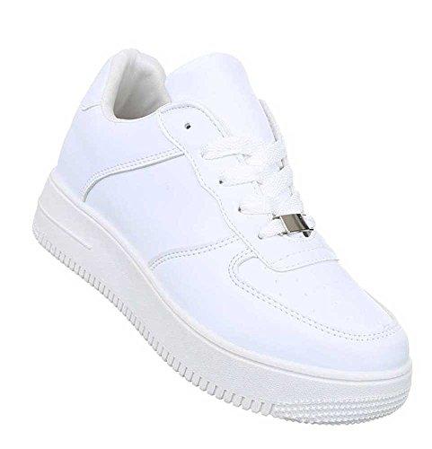 Damen Freizeitschuhe Schuhe Low-top Sneaker Sportschuhe Streetwear Weiß 39