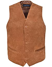 Men's New Party Fashion Stylish Real Genuine Classic Designer Real Soft Suede Leather Waistcoats Vests