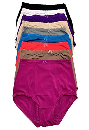 Control Girdle (Peachy Panty Women's Pack of 6 High-Rise Girdle Panties High-Waist Tummy Control Girdle Panties (Large))