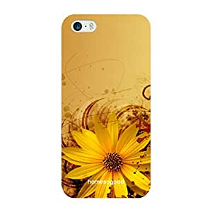 HomeSoGood Naturalistic Floral Pattern Yellow 3D Mobile Case For iPhone 5 / 5S (Back Cover)