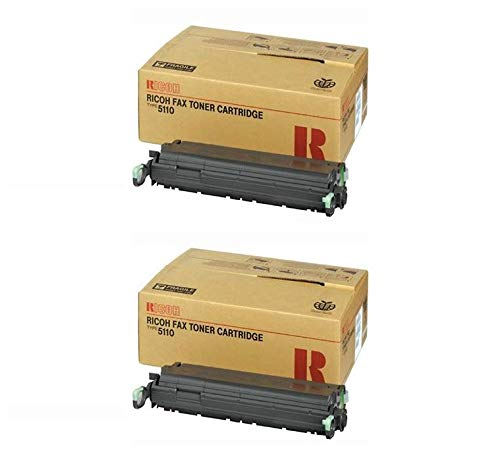 (430208 Genuine Ricoh Toner Cartridge 2 Pack, 430452, Type 5110, 10000 Page-Yield Per Ctg, Black)