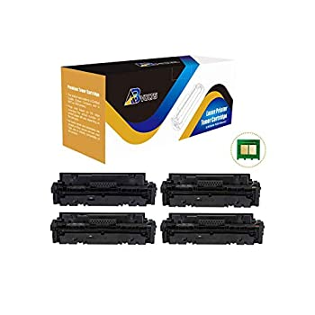 Image of AB Volts Compatible with Chip Toner Cartridge Replacement for Canon 055H for Color Image Class MF740 Series and LBP664Cdw (Black Cyan Magenta Yellow,4-Pack) Laser Printer Drums & Toner