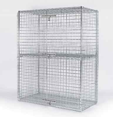 "24"" x 30"" Chrome Security Storage Liquor Cage"