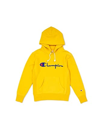 pretty nice separation shoes 2018 shoes Champion - Sweat-Shirt à Capuche - Homme Jaune Jaune Taille ...