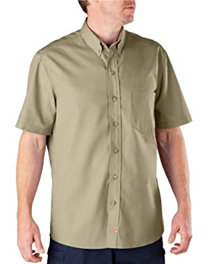 LS500 Short Sleeve Premium Industrial Button-Down Poplin Shirt
