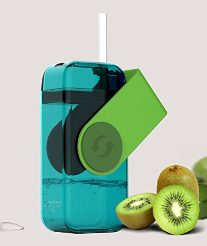 Asobu Juicy Drink Box The Ultimate Unbreakable Reusable 10oz Water Bottle for Kids (Green)