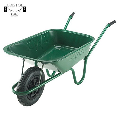 Bristol Tool Company Builder Green Wheelbarrow- Puncture Proof