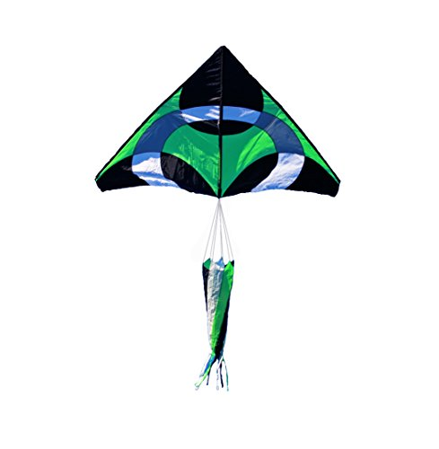 Weifang New Sky Kites Giant Delta Ring iKite Delta Shape Premium Large Kite (Green) 6FT Wide
