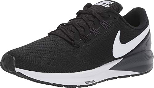 Nike Women's Air Zoom Structure 22 Running Shoe Wide Black/White/Gridiron Size 9 Wide US