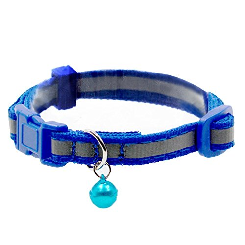 Cute Cave Girl Costume (Mikey Store Cute Reflective Small Dog Puppy Cat Collar With Bell Neck Adjustable (Blue))
