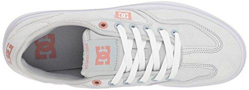 Women US Leather DC Dc Shoes Shoes™ Grey US EU Grey 10 Shoes UK White Womens Vestrey 8 42 Grey 10 Le 8xYfwrxq
