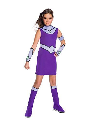 Rubie's Girls Teen Titans Go Movie Deluxe Starfire Costume, As Shown, Small]()