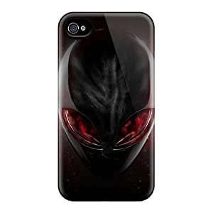 Shockproof Hard Cell-phone Cases For Iphone 4/4s With Support Your Personal Customized Trendy Alienware Pattern MansourMurray