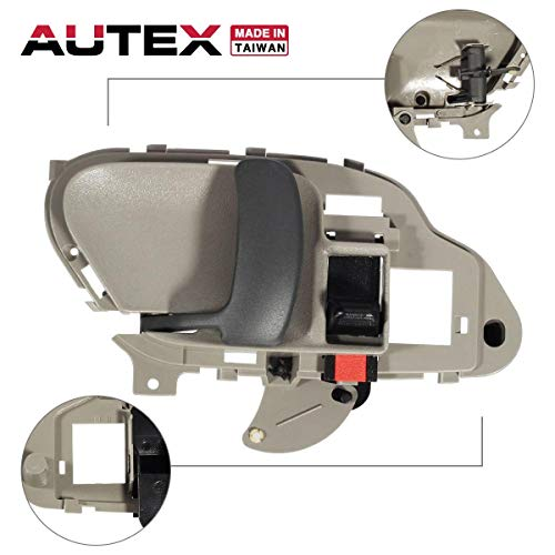 AUTEX Door Handle Interior Front/Rear Left Driver Side Compatible with Chevrolet,GMC C/K Suburban 1500 2500 3500,Chevy Tahoe,GMC Yukon 1995-2002 77187 15708043