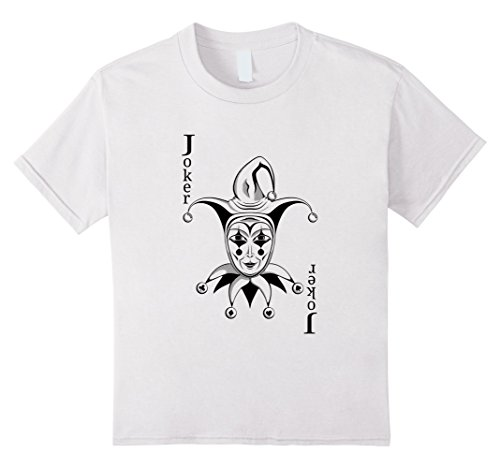 Kids Joker Playing Card T-Shirt 10 White (Playing Card Joker Costume)