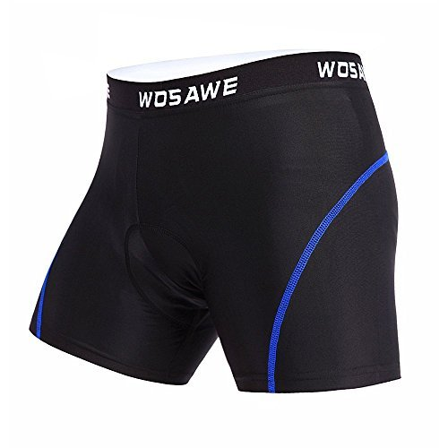 WOSAWE Men's 4D Gel Padded Bicycle Cycling Underwear Shor...
