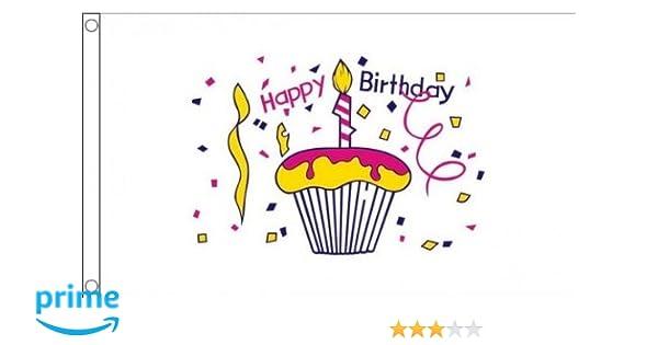 Amazon AZ FLAG Happy Birthday Cake Flag 3 X 5