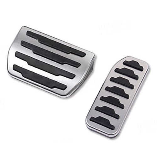 WANWU No Drill Gas Brake Pedal Cover For Jaguar XE XF F-Pace Discovery Sport Evoque