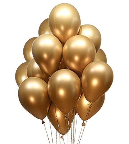 Fayoo Gold Balloons, 12'' Gold Metallic Latex Party Balloons for Party Decorations, Baby Shower, Christmas Decorations, Birthdays, Bridal Shower, Valentine's Day, Graduation -