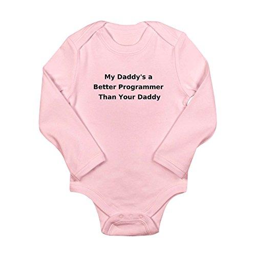 Cafepress   Daddyprogrammer Body Suit   Cute Long Sleeve Infant Bodysuit Baby Romper