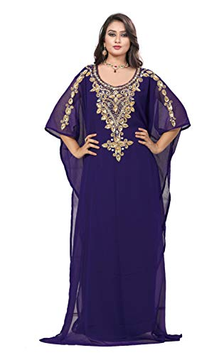 KoC Women's Kaftan Maxi Dress Farasha Caftan KFTN119-Purple for sale  Delivered anywhere in USA