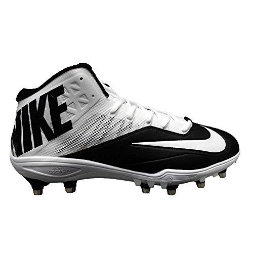 Nike Zoom Code Elite 3/4 TD Football Cleats (14, Black/White/Metallic Silver)