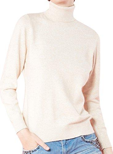 Sweater Cashmere Beige (LongMing Women's Long Sleeve Sweater (Medium, Beige))
