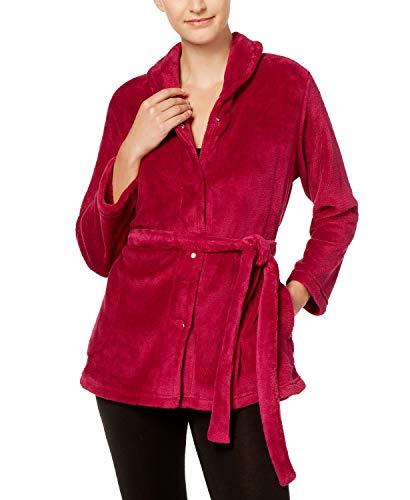 Miss Elaine Petite Fleece Belted Bed Jacket