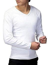 Lowpricenice Men Slim Cotton V-neck T-shirt Tops