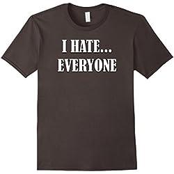 Mens I Hate Everyone Funny Introvert Anti Social T Shirt Large Asphalt
