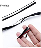 Xotic Tech JDM Rubber Car Body Side Door Edge Seal Protector Bumper Guard Protection Strip Sticker Lining//Trim Molding fits Most Cars Black 14.7 Feet