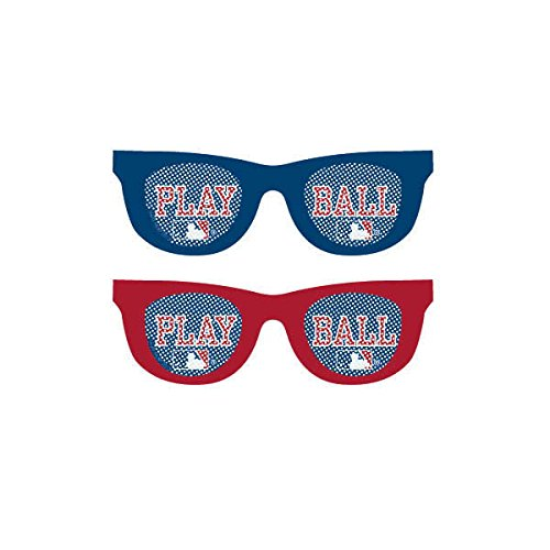 Amscan (251097) Baseball Dream Rawlings Printed Glasses Accessory Plastic 2'' x 6'' x 5''0 Party Supplies , 60 Pieces